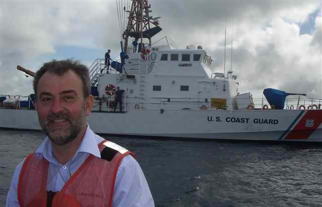 Compass Adjuster attending US Coast Guard Cutter